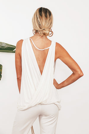 Plunging Scoop-neck Loose T-shirt