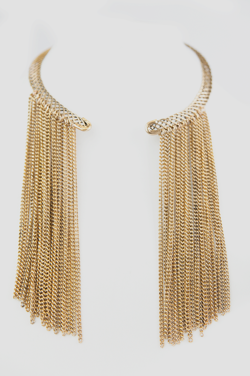 Linah Choker Fringe Necklace - Haute & Rebellious