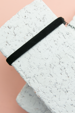 Velveteen Rabbit Choker - Black - Haute & Rebellious
