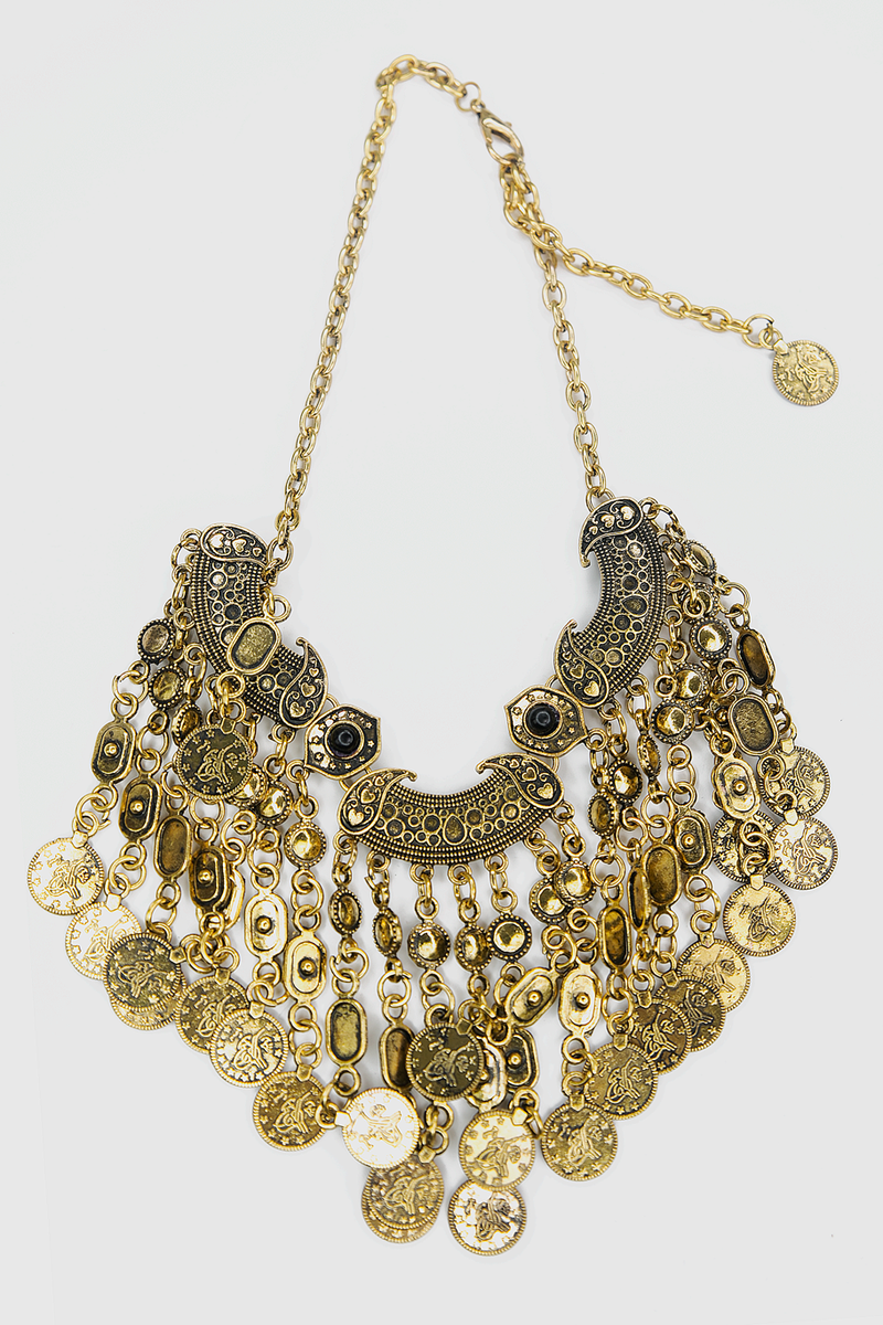 Leyla Metal Fringe Necklace - Haute & Rebellious