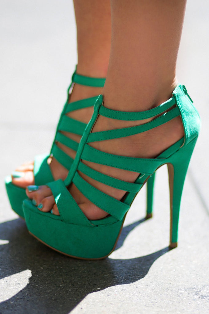 ELECTRIC STRAPPY HEEL