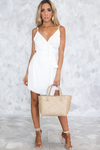 Natural Linen Wrap Dress - Haute & Rebellious