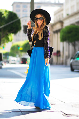 LONG CHIFFON MAXI SKIRT - Haute & Rebellious