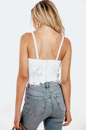 Lace Bustier Top - White