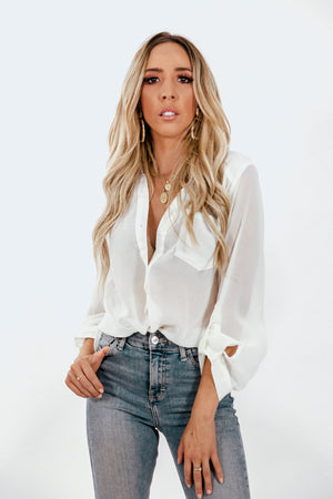 Chiffon Button-up Blouse