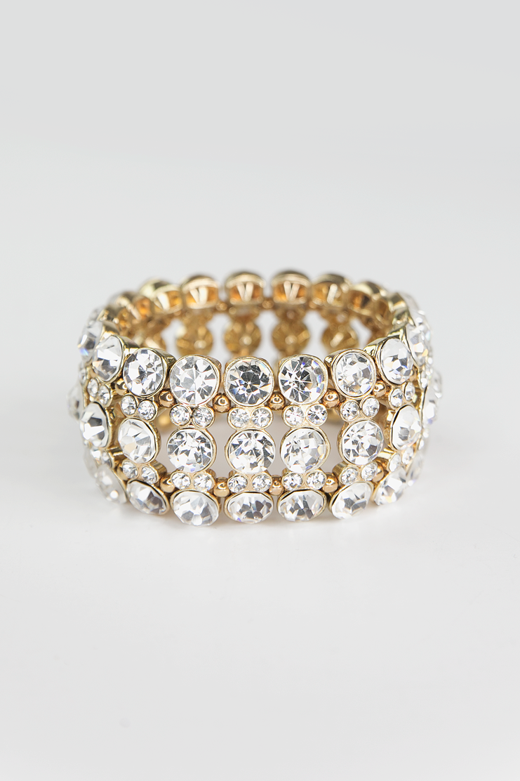 Emma Heavy Crystal Bracelet - Gold - Haute & Rebellious