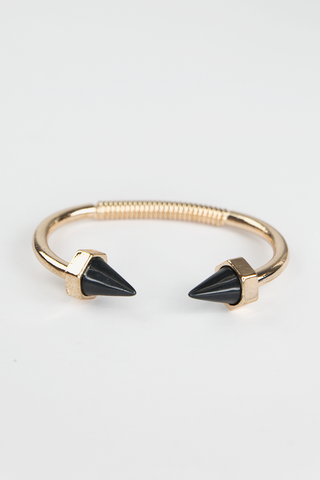 Arrow Crystal Cuff - Silver
