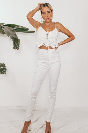 Positano Escape Eyelet Crop Top
