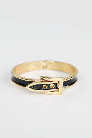 GOLD BUCKLE PLATED LEATHER BAND