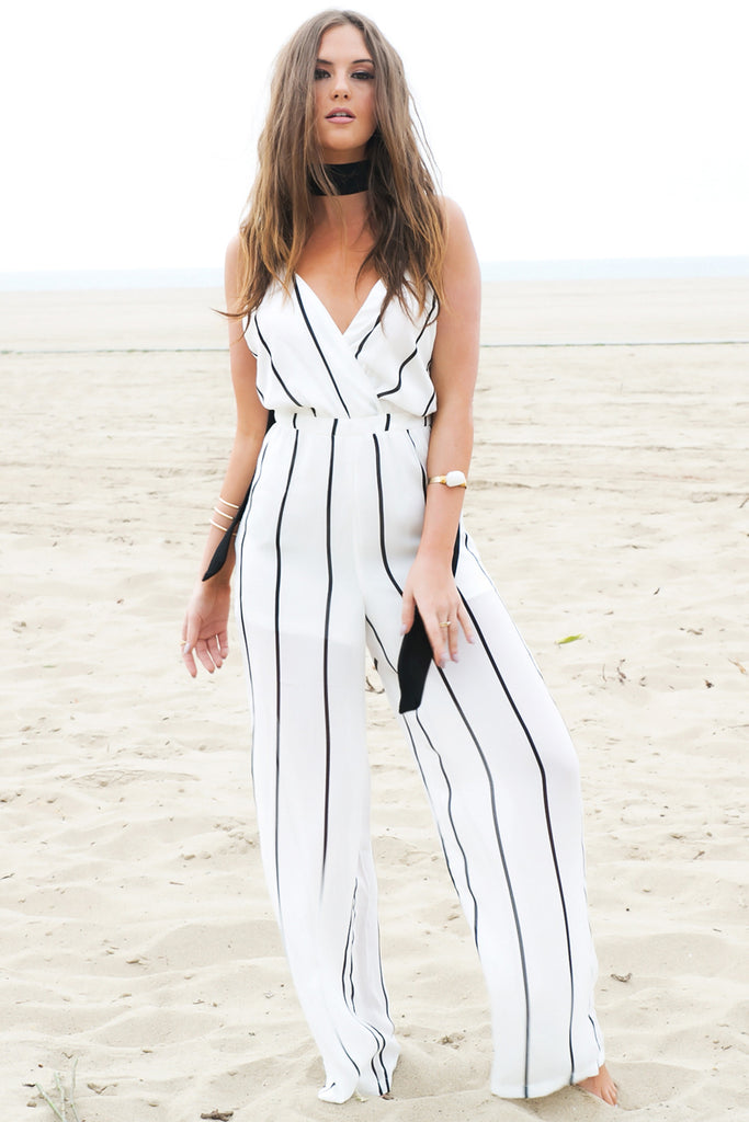 Palazzo Stripped Jumpsuit (old)