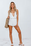 Lace Romper - White