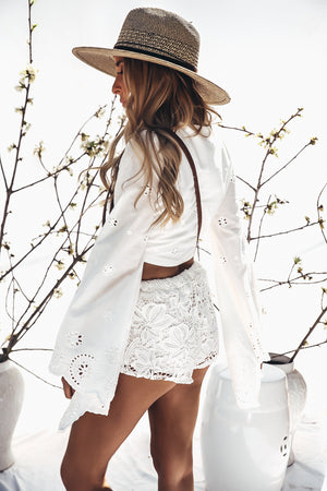 Lace Drawstring Shorts