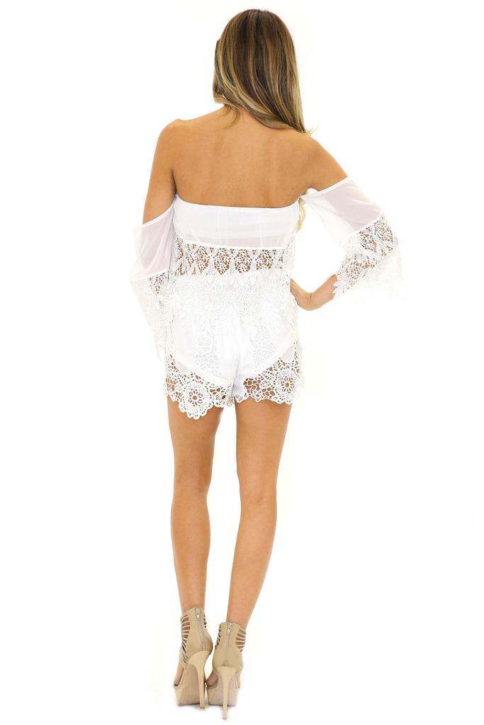 BALDWIN LACE TUBE TOP - White - Haute & Rebellious