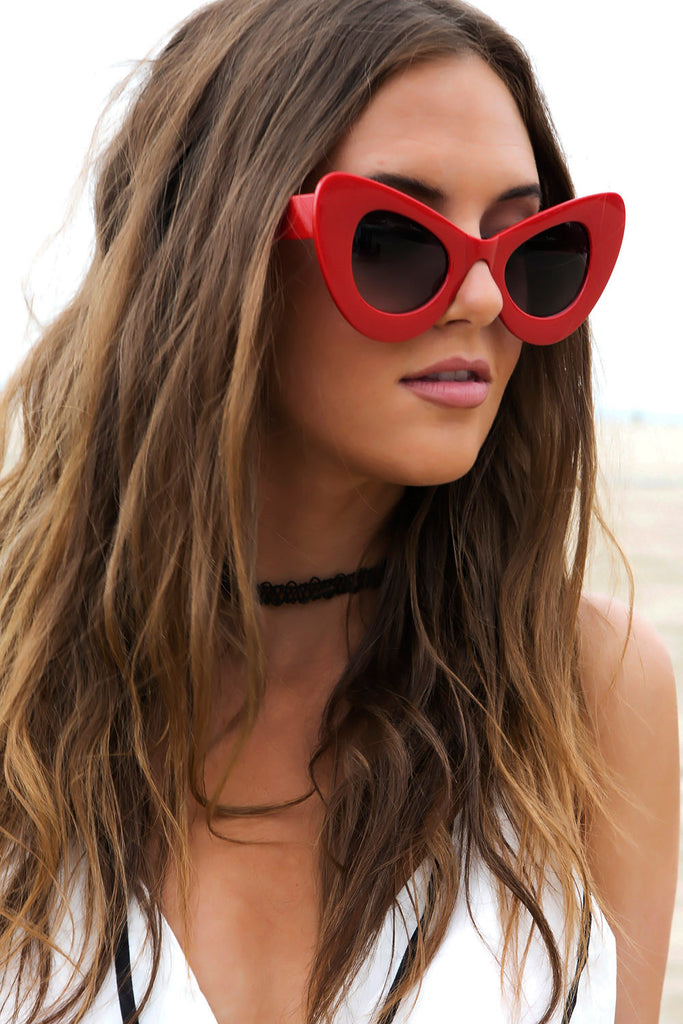 Sophie Cat Eye Sunglasses - Red