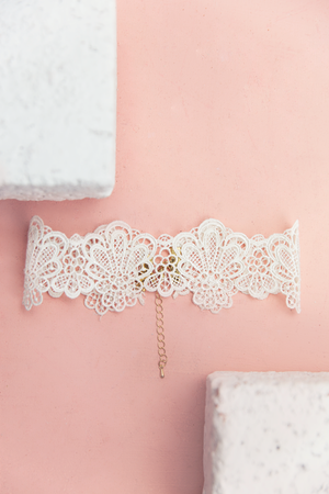 Lust For Lace Choker - White - Haute & Rebellious