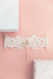 Lust For Lace Choker - White
