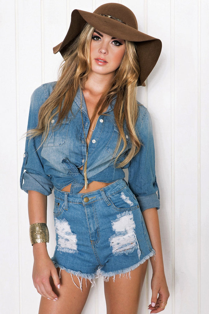 Cobi Light-wash Denim Shirt