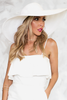 Lana Large Floppy Brim Hat - White