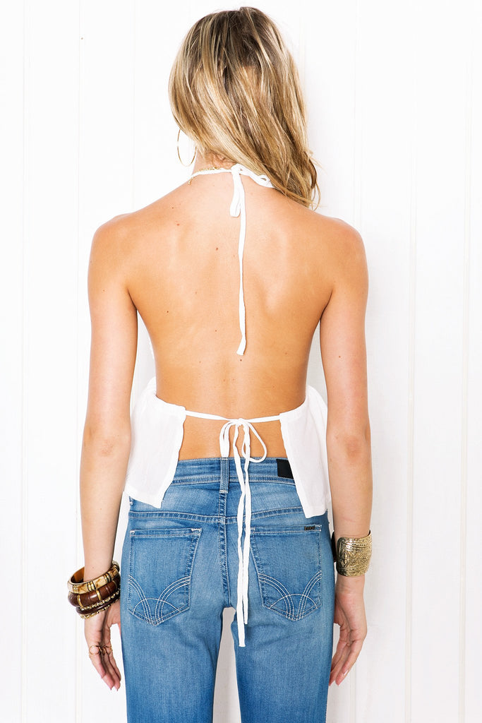 Marlena Open Back Halter Top