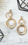 Multi Hoops Long Earrings - Gold
