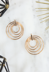 Multi Gold Circle Earrings