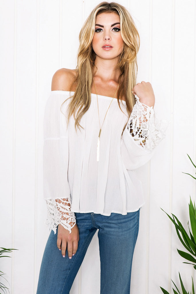 Lux Crochet Detail Top