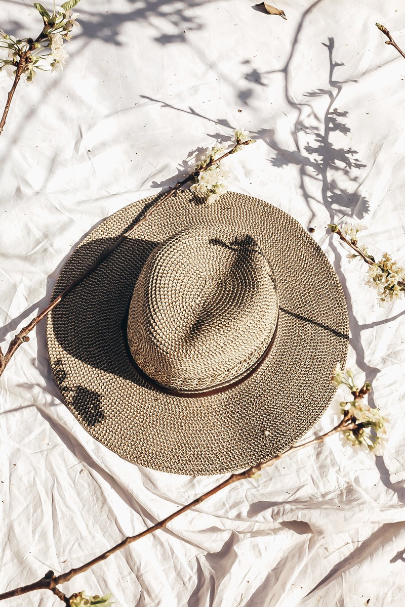 Palm Desert Flat Brim Hat - Brown