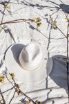 Palm Desert Flat Brim Hat - White