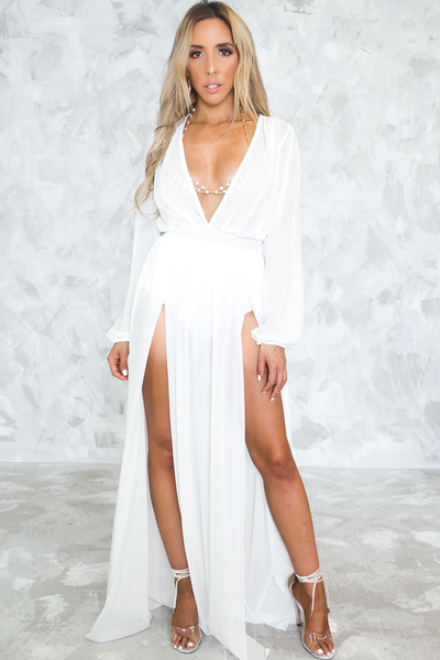 It's Something More Mesh Slit Maxi Dress /// Only 1-M Left ///