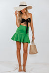 Flared Skirt - Green