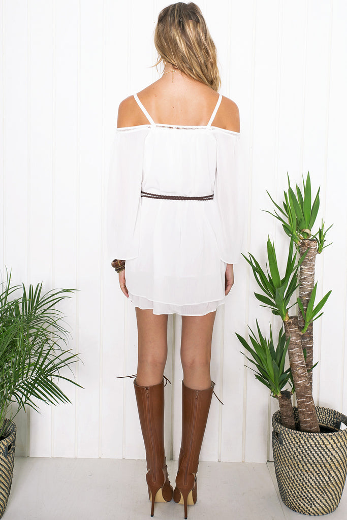 Zinnia Off-Shoulder Shift Dress