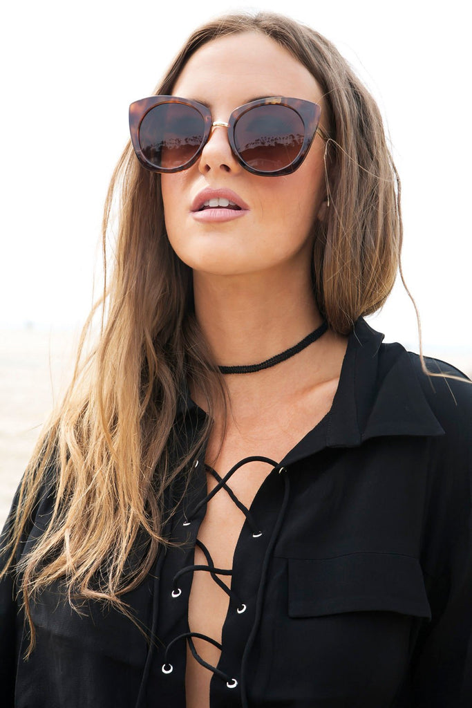 Lana Cat Eye Sunglasses - Tortoise Shell