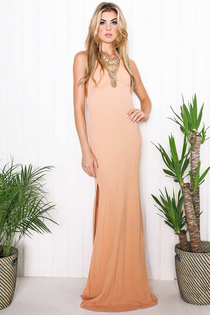 Haven High-Slit Maxi Dress