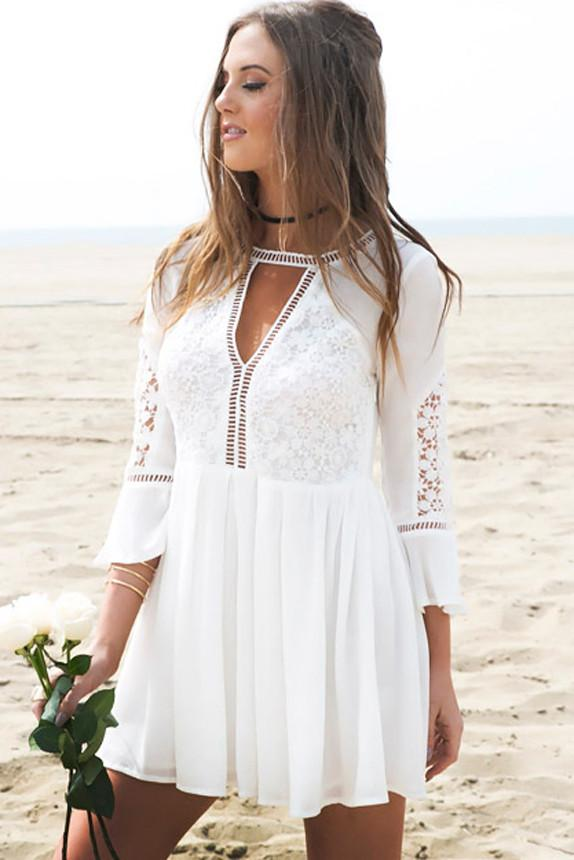 Amelia Lace Keyhole Dress