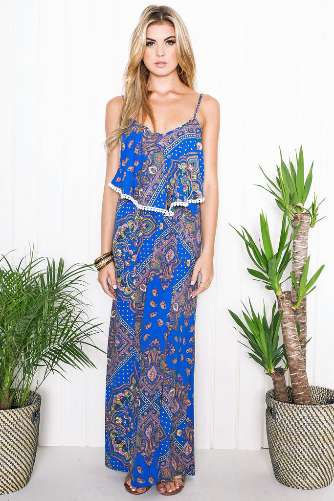 Maia Paisley Print Maxi Dress