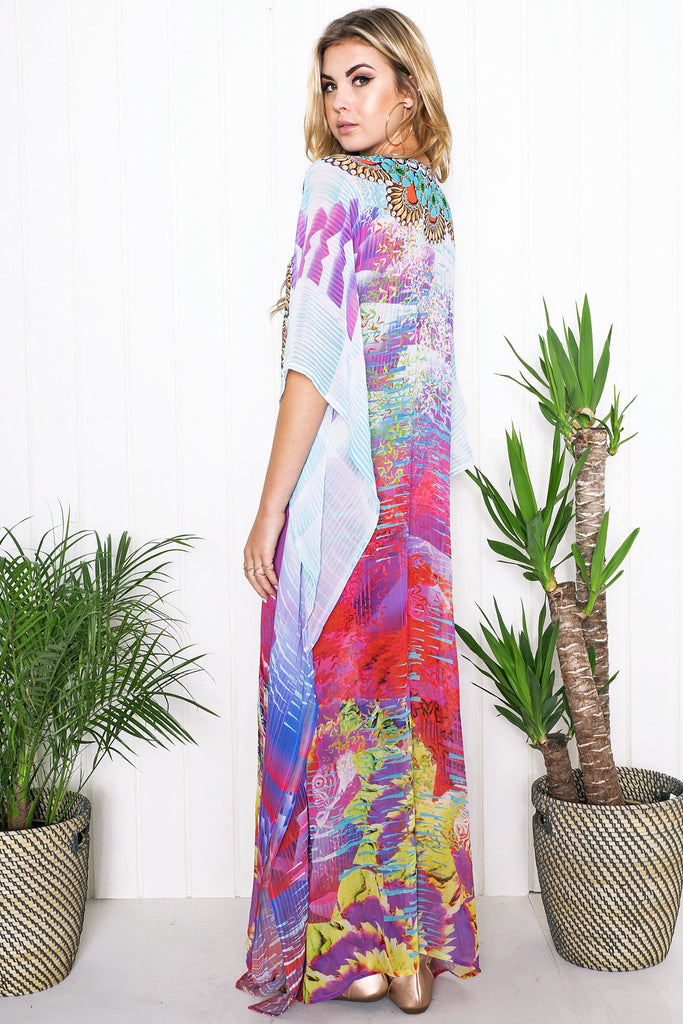 Kailah Flowy Maxi Dress - Blue