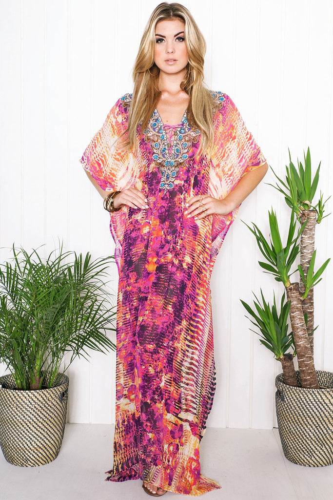 Kailah Flowy Maxi Dress - Purple - Haute & Rebellious