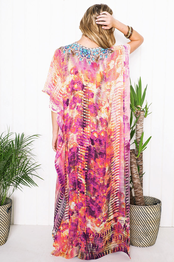 Kailah Flowy Maxi Dress - Purple