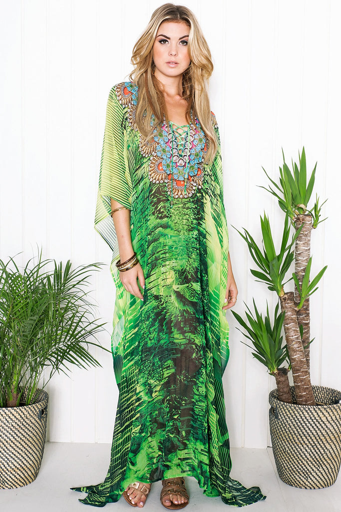 Kailah Flowy Maxi Dress - Green - Haute & Rebellious