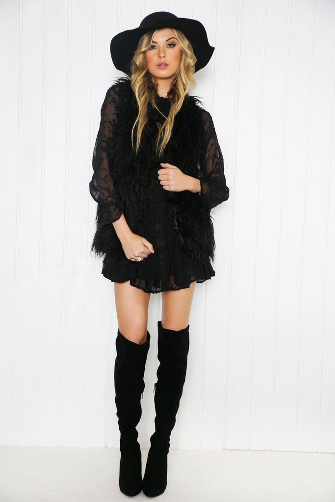 Deidra Ruffle Long Sleeve Dress