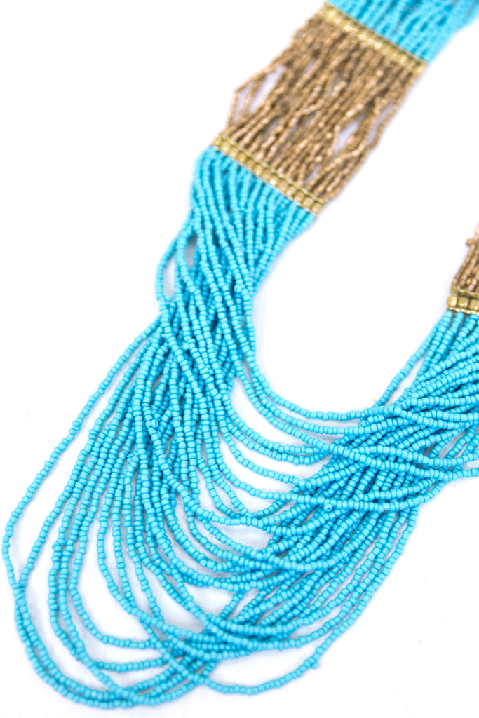 Shea Beaded Necklace - Teal - Haute & Rebellious