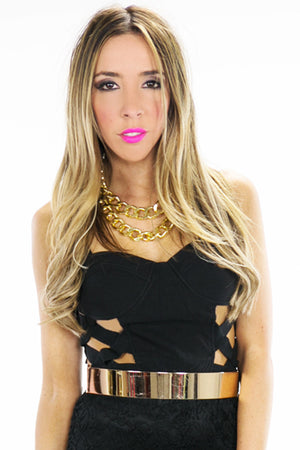 STRAPPY CUTOUT CROP TOP - Haute & Rebellious