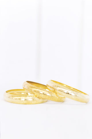 Gold Washers Crystal Bracelet
