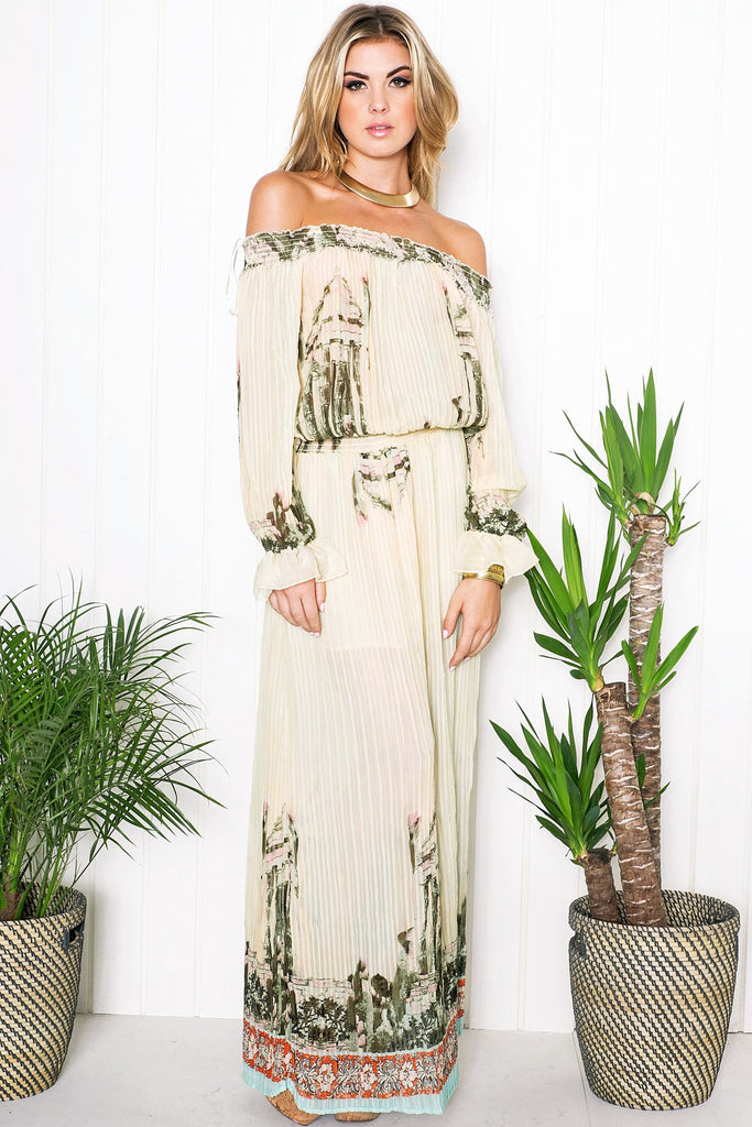 Isis Flower Print Maxi Dress