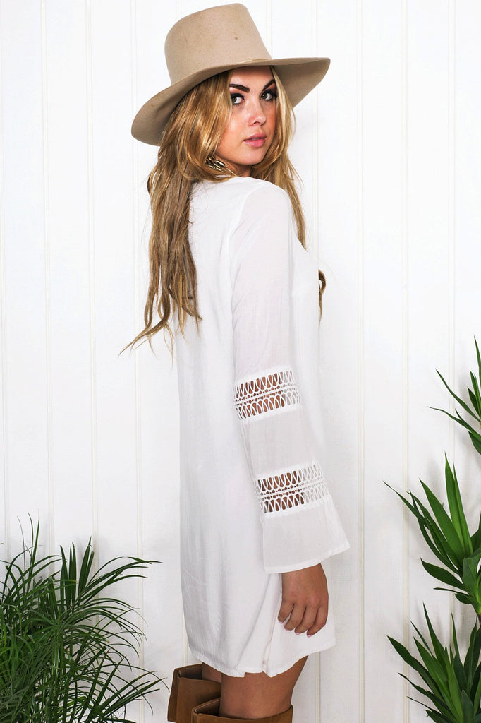 Adelia Bell Sleeve Sun Dress