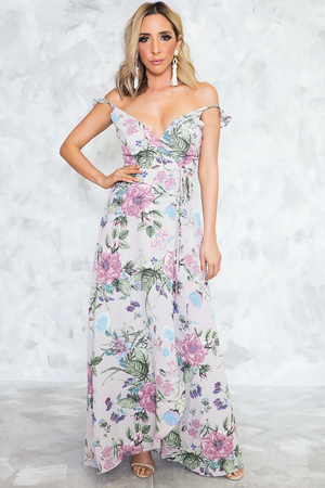 All That She Wants Floral Wrap Dress - Haute & Rebellious