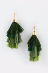 Fade Away Tassel Earring - Green - Haute & Rebellious