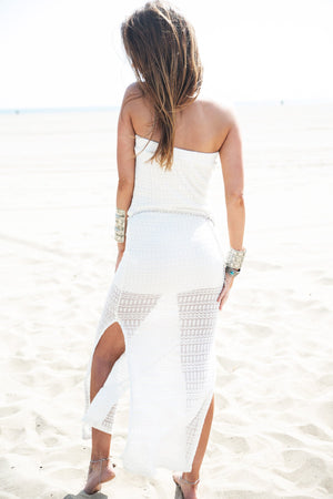 Meadow Strapless Crochet Maxi Dress - Haute & Rebellious