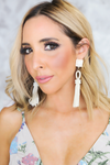 Stay a While Tassel Earring - Cream - Haute & Rebellious