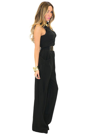 BIG POCKET JUMPSUIT - Black - Haute & Rebellious